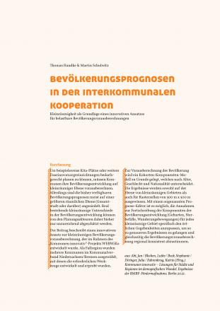Bevölkerungsprognosen in der interkommunalen Kooperation