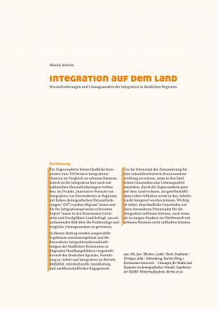 Integration auf dem Land