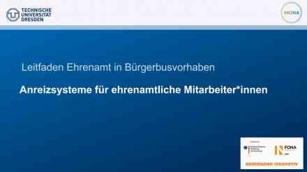 Leitfaden Ehrenamt in Bürgerbusvorhaben